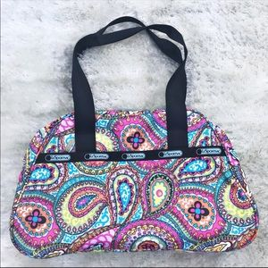 LESPORTSAC Colorful Paisley Shoulder Bag